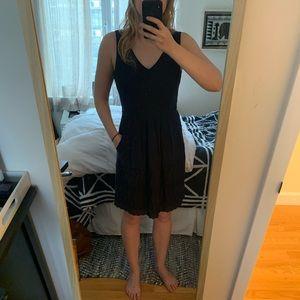 J. Crew Dresses - Navy cotton J Crew dress with scallop hem